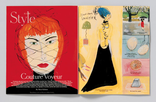 "The New York Times Magazine ""Couture Voyeur"" story"
