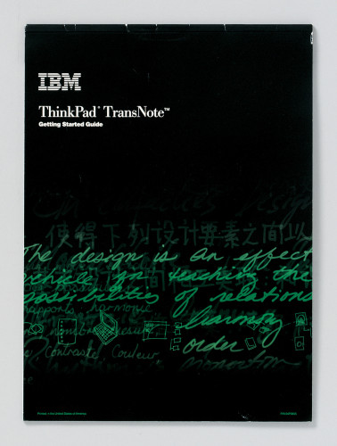 IBM ThinkPad TransNote-Getting Started guide