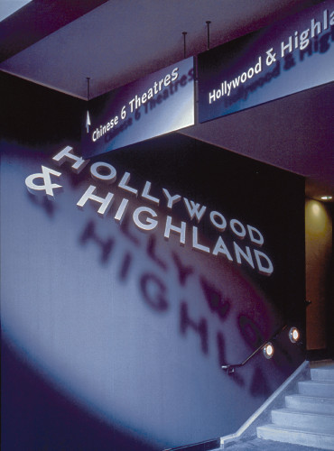 Hollywood & Highland retail environment signage