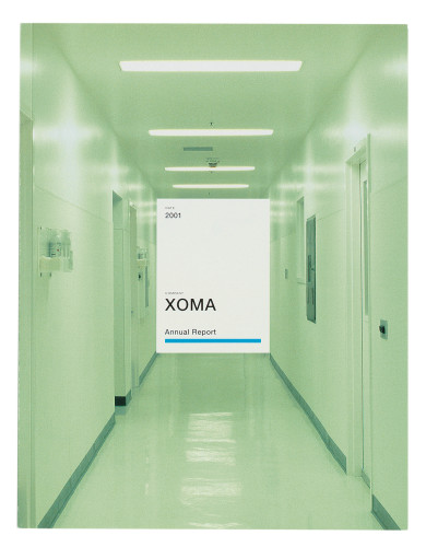 XOMA 2001 annual report