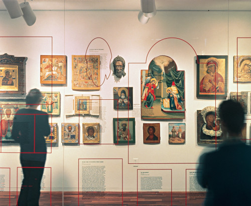 Russian icon exhibition