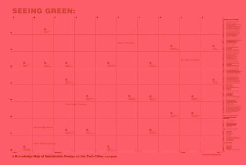Seeing Green: Sustainable Design Initiatives at the University of Minnesota poster