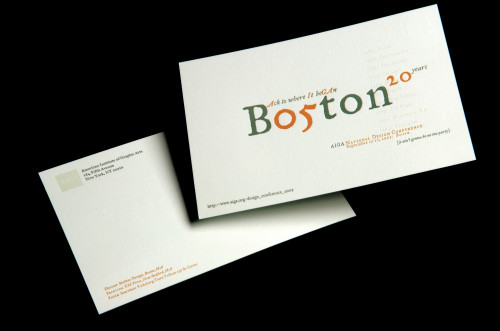 AIGA Boston Conference postcard