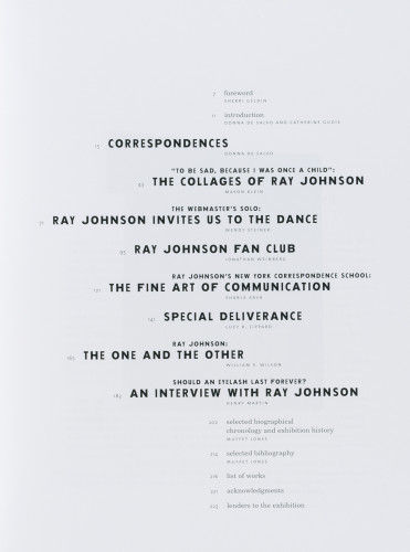 Ray Johnson catalogue