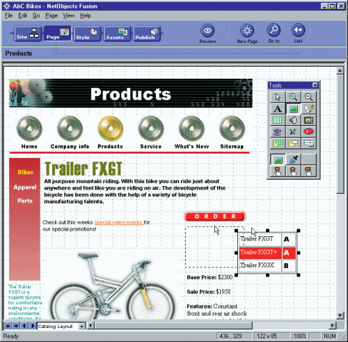 NetObjects Fusion software application