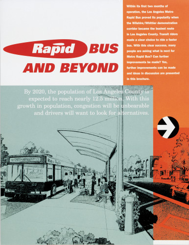 Metro Rapid Bus brochure