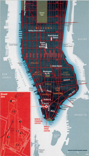 Map of Manhattan/World Trade Center
