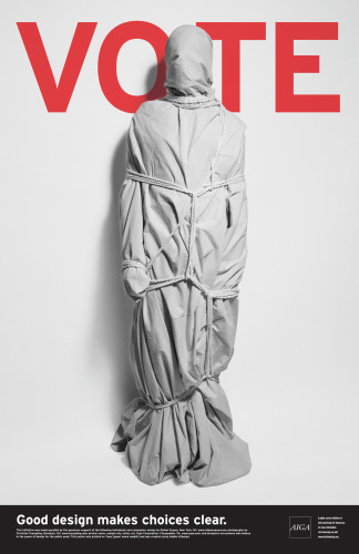 "AIGA ""Get Out the Vote"" 2004 campaign poster"
