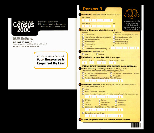 US 2000 Census forms