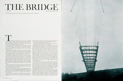 "Esquire ""The Bridge"" spread"