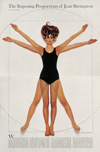 "Esquire ""The Imposing Proportions of Jean Shrimpton"""
