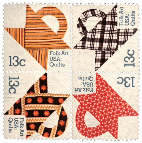 Folk Art USA: Quilts stamp