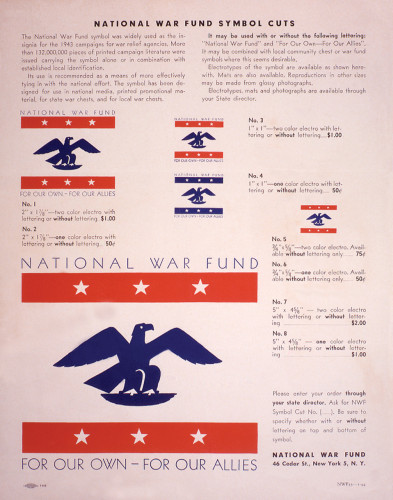 National War Fund identity