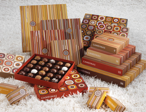 Packaging, Candinas chocolate