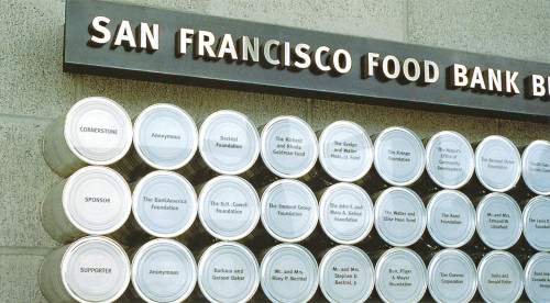 San Francisco Food Bank Donor Wall