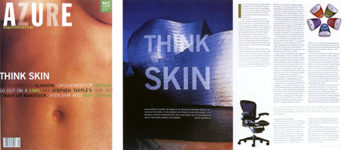 "Azure Magazine ""Think Skin"" Cover (May/June 1999)"