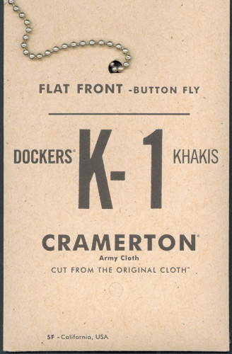 Dockers K-I Clothing Tags