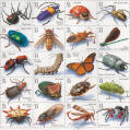 """Insects and Spiders"" postage stamps"