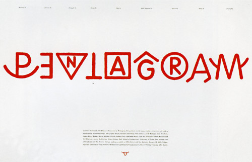 Pentagram: The Brand Poster
