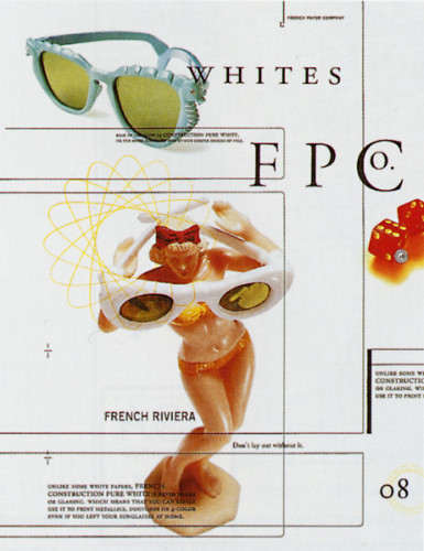 French Paper White Ad Series