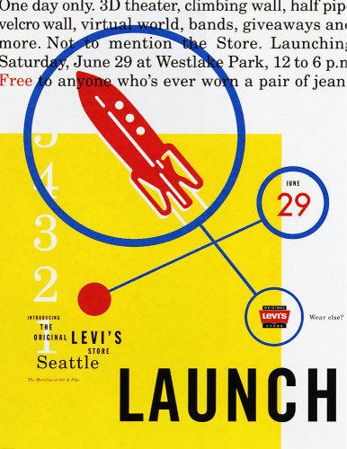 Original Levi's Store—Seattle Launch Poster