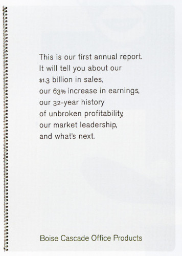 Boise Cascade Office Products 1995 Annual Report