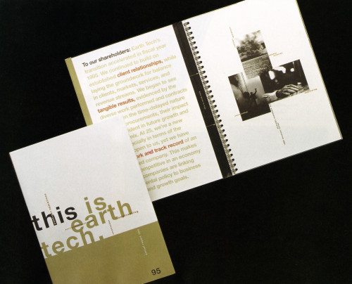Earth Tech 1995 Annual Report