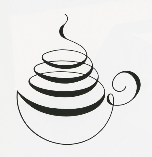 Drawing Lines Brand : Verlaine gourmet coffee house logo