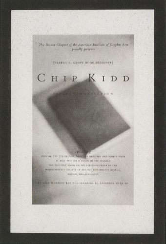 Chip Kidd Lecture Postcard