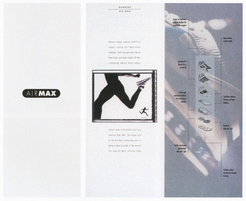 Nike air max brochure for Nike brochure design