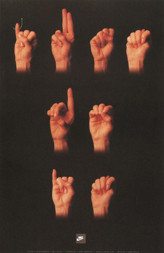 """Just Do It"" Sign Language Poster"