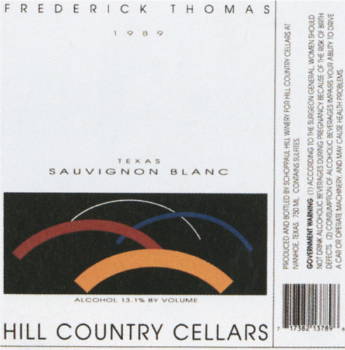 Hill Country Cellars Wine Label
