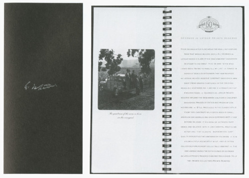 Georges Latour Tasting Notebook