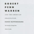 Robert Penn Warren and the American Imagination