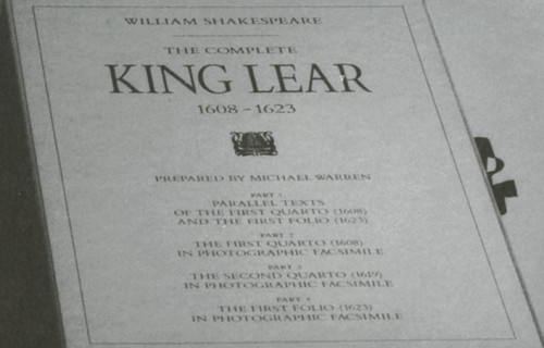 The Complete King Lear 1608-1623