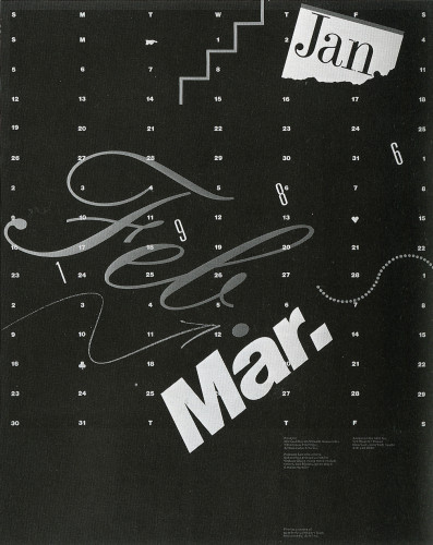 Jan-Mar Quarterly Calendar, 1986