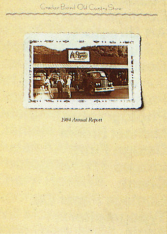 Cracker Barrel 1984 Annual Report