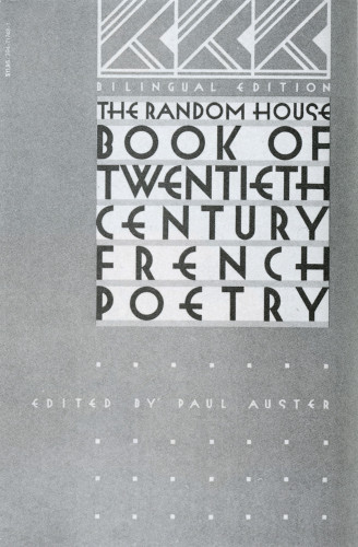 The Random House Book of Twentieth Century French Poetry
