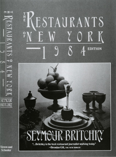 The Restaurants of New York, 1984 Edition