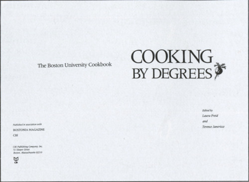 Cooking by Degrees: The Boston University Cookbook