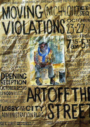 Moving Violations Exhibition Poster