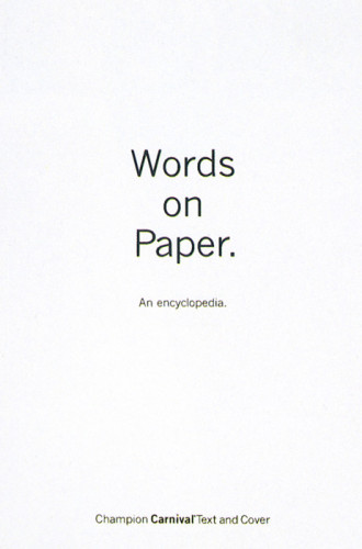 Words on Paper: An Encyclopedia