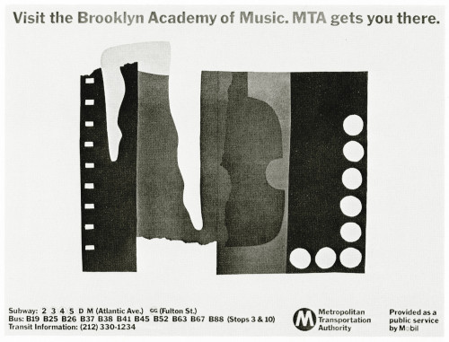 Visit the Brooklyn Academy of Music, poster