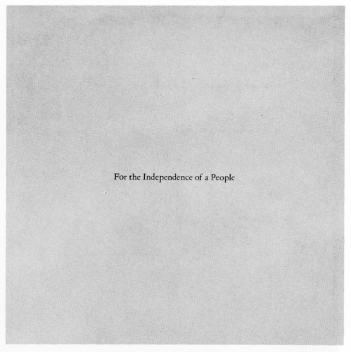 For the Independence of a People, brochure