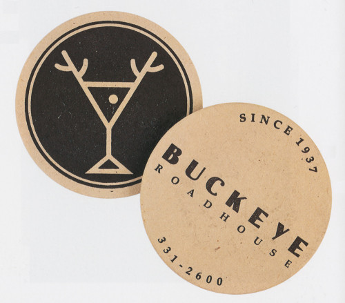 Buckeye Bar (Drink Coaster)