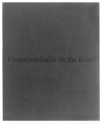 The Protestant Guild for the Blind, brochure