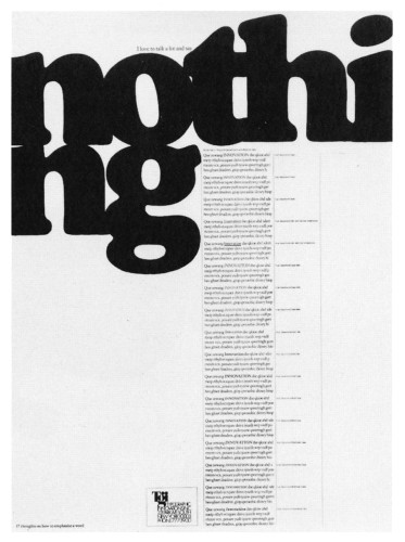 Nothing, poster