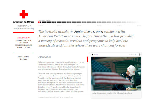 September 11th Response & Recovery (http://www.redcross.org/911legacy/)