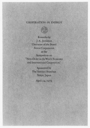 Cooperation in Energy, booklet