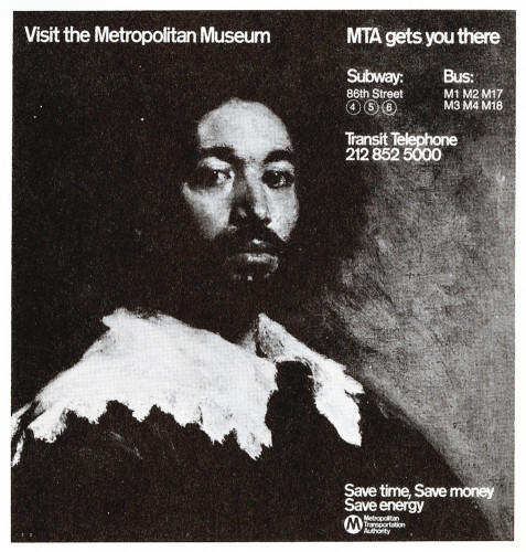 Visit the Metropolitan Museum. MTA Gets You There, poster